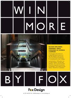 Win More by Fox Design AB. HLS var den stora vinnaren vid utdelning av Ljuspriset 2014.