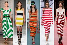 Bold Stripes Are Big on the Milan Runways. A perennial favorite is on many designers' minds this season.