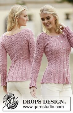 """Free Knitting Pattern - """"Love is in the Air Cardigan"""" knit lace cadigan Lace Knitting Patterns, Knitting Designs, Free Knitting, Cardigan Pattern, Jacket Pattern, Knit Cardigan, Knit Jacket, Cotton Jacket, Crochet Clothes"""