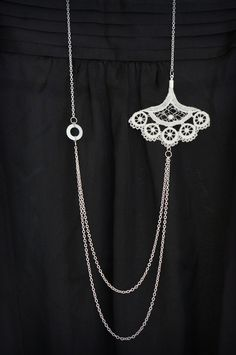 Lace, washer and silver