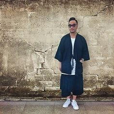 Mannix Lo - Online Shop Kimono, Online Shop Layered Cropped Wide Pants, Adidas Stan Smith Sneakers - Japan Style with New Day