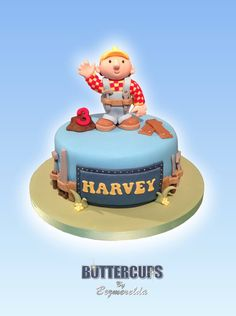 Bob The Builder cake - Made by Buttercups By Bezmerelda