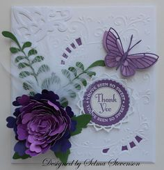 "This card was created using a new punch you can order from Joan's Gardens .  It is called ""Mega Giant Snapdragon Petals"" .  This punch ..."