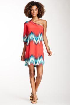 One Shoulder Zigzag Dress on HauteLook