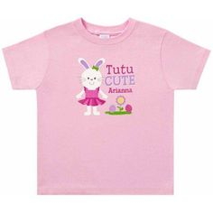 Personalized Ballerina Bunny Toddler T-Shirt, Toddler Girl's, Size: 25 Months, Multicolor