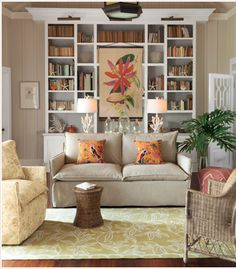 Seaside Living Room - traditional - living room - other metro - Soft Surroundings Southampton, Home Decor Pictures, Hang Pictures, French Furniture, Furniture Ideas, Tropical Decor, Living Room Inspiration, Beautiful Interiors, Luxury Bedding
