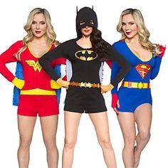 Superheroine Ladies' Caped Rompers | ThinkGeek