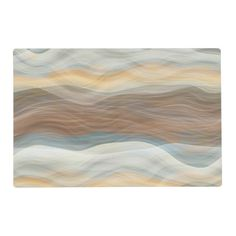 Cool Retro Abstract Artistic Waves Pattern Placemat - retro kitchen gifts vintage custom diy cyo personalize