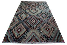 Soft Pastel Colors of Vintage Rugs Bohemian Rugs Retro Style Floor Rug Tribal Nomadic Rug Beach Style Rug - R4104