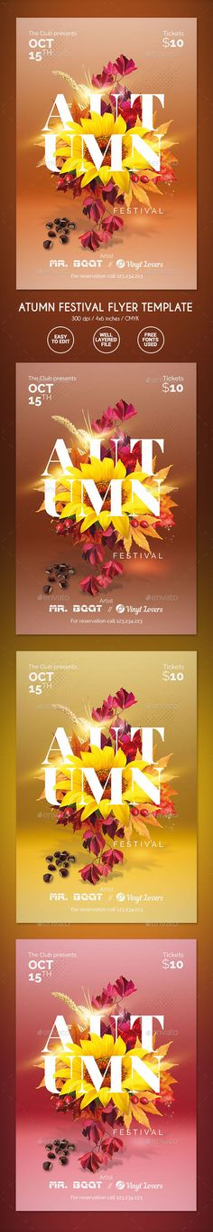 Autumn Festival Flyer Template PSD. Download here…