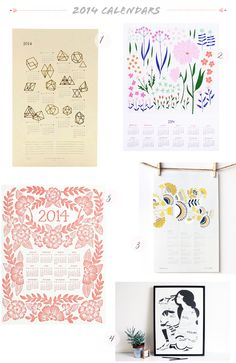 Oh So Beautiful Paper: Seasonal Stationery: 2014 Calendars, Part 4 Stationery Paper, Stationery Design, Invitation Design, Invitations, Print Design, Floral Design, Diy Calendar, Paper Crafts, Diy Crafts