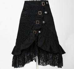 punk clothing women gothic skirt party dark theme metal street wear harajuku goth clothes tattoo kustom kulture lace black jupe