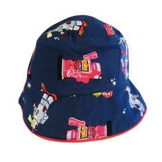 71304823a81 Powell Craft Boys Blue Robot Summer Sun Hat