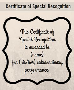Baroque  Paperdirect  Employee Recognition Certificates