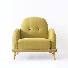 吱音极美家具小俏皮单人布艺沙发北欧实木家具设计办公咖啡工作室-淘宝网