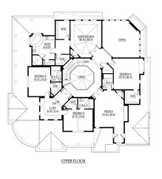Second Floor Plan of Farmhouse  House Plan 87608. Basically, my future home!