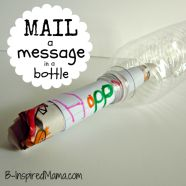 What a fun way to stay connected with long distance friends and family!! Mail a message in a water bottle.