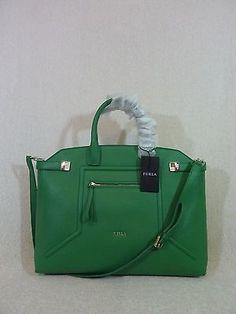 NWT FURLA Mint Green Leather Mini Baby Elena Satchel Bag $298 ...