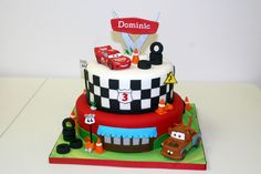 """Disney Themed Cakes - Cars themed, 8"""" and 10"""" round cake"""