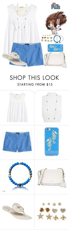 """going to see The Secret Life of Pets"" by smaryb ❤ liked on Polyvore featuring Clu, Kendra Scott, J.Crew, Kate Spade, Jack Rogers, Aéropostale and Everest"