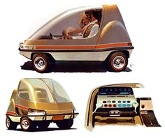 More Lovely Microcars by Syd Mead