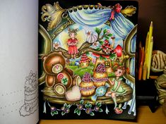 Enough for today.goodnight In progress! My first page for this year Coloring Tips, Coloring Books, Coloring Pages, Colouring, Mark 4, Polychromos, Favorite Pastime, Petra, Prismacolor