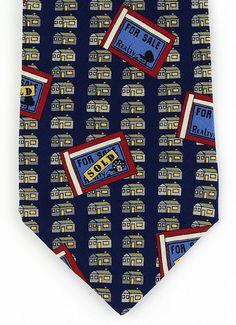 For Sale Or Rent Mens Necktie Real Estate Agent Neck Tie Realtor Gift Blue