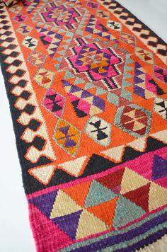 Sukan / VINTAGE Turkish Kilim Rug Carpet handwoven kilim by sukan, $1960.00