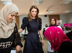 Queen Rania visits the Jordan's Free Medical Day Event