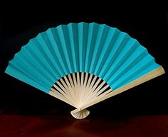 Quasimoon 9' Water Blue Paper Hand Fans for Weddings (10 Pack) by PaperLanternStore ** Check out this great product.