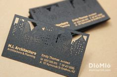 Architect Business Cards - DioMioPrint #BestBusinessCards #UniqueBusinessCards