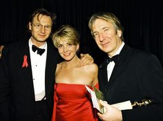 January 1997 - Alan Rickman with Liam Neeson [and Liam& wife, Natasha. January 1997 – Alan Rickman with Liam Neeson [and Liam& wife, Natasha… January 1997 – Alan Rickman with Liam Neeson [and Liam& wife, Natasha… Liam Neeson, Natasha Richardson, Alan Rickman Movies, Alan Rickman Family, Alan Rickman Severus Snape, Snape Harry, Cinema, Love Actually, Actrices Hollywood