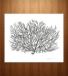 Sea Coral Linocut