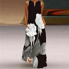LightInTheBox - Global Online Shopping for Dresses, Home & Garden, Electronics, Wedding Apparel Manga Floral, Plus Size Long Dresses, Long Summer Dresses, Vestidos Vintage, Vintage Dresses, Fashion Prints, Fashion Art, Fashion Online, V Neck Dress