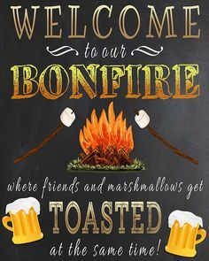 Free Printable Welcome To Our Campsite Sign Plus 4 More Outdoorsy Freebies Fall Bonfire Party, Bonfire Night, Bonfire Ideas, Outdoor Parties, Outdoor Fun, Advent, Sleeping Under The Stars, Diy Craft Projects, Wood Projects