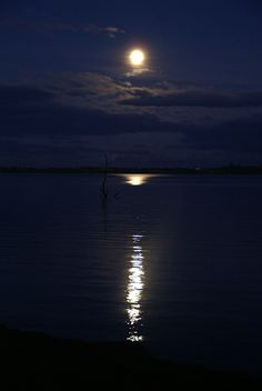 Moon River over the River Slaney in County Wexford, Ireland