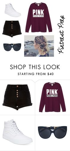 """""""Pintrest Prep"""" by emma1097 on Polyvore featuring River Island, Vans and Linda Farrow"""