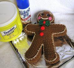 PDF Crochet Pattern GINGERBREAD BOY van bvoe668 op Etsy