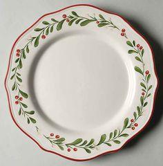 Better Homes & Gardens MISTLETOE Dinner Plate 8816401 #BetterHomesGardens not available