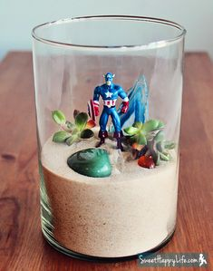 Easy Superhero/dinosaur Terrarium- party activity.