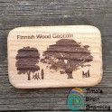 Finnish Wood Geocoin LE (Tammi) Money Clip, Wood, Woodwind Instrument, Timber Wood, Money Clips, Trees