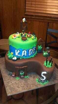 Kade's Angry Bird birthday cake!