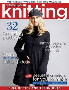 Creative Knitting Australia - No. Crochet Book Cover, Crochet Books, Knit Or Crochet, Vogue Knitting, Knitting Books, Knitting Projects, Knitting Ideas, Baby Knitting Patterns, Knitting Stitches