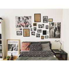 Stylisches Schlafzimmer mit Photowand. #Schlafzimmer #Einrichtung #WG #Zimmer #Photowand