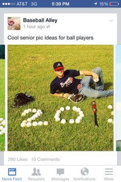 Great photo idea for baseball player's graduation pic.