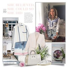 """""""She Believed,She Could So She Did"""" by thewondersoffashion ❤ liked on Polyvore featuring Frame, River Island, Repeat, Anya Hindmarch, Yves Saint Laurent and Rolex"""