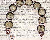Harry Potter Recycled Book Bracelet
