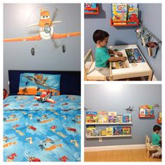 Charmant Dusty Planes Themed Room. Toddler Art Corner DIY Dusty Wall Art Is Painted  Mural South