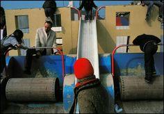 Magnum Photos Blog - Harry Gruyaert, Paris, Les Halles area, Children's playground, 1985