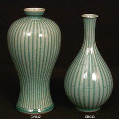 Bamboo Pattern Vase & Bottle